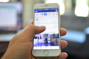 facebook on mobile device